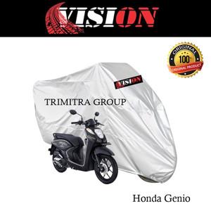 Harga sarung motor matic cover penutup tutup motor genio silver vision   | HARGALOKA.COM