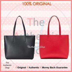 Harga original calvin klein jeans leather zipped tote bag tas wanita     HARGALOKA.COM