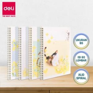 Harga deli notebook buku catatan spiral b5 60lembar | HARGALOKA.COM