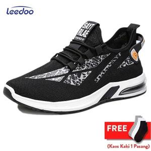 Harga leedoo sepatu sneakers pria air mash shoes young lifestyle mr501   hitam   HARGALOKA.COM