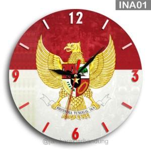 Harga jam dinding kayu garuda indonesia merdeka | HARGALOKA.COM