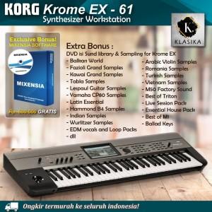 Harga korg krome ex 61 kromeex 61 synthesizer keyboard garansi | HARGALOKA.COM