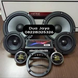 Harga speaker split 3way hifine hf 630 6 5inch split 3way 6in 1 | HARGALOKA.COM