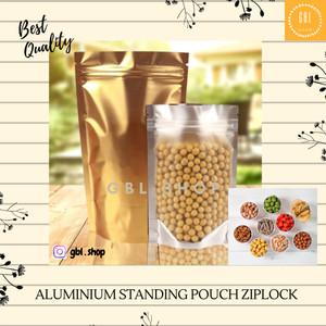 Harga aluminium foil zipper standing pouch kemasan snack 10x15 | HARGALOKA.COM