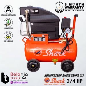 Harga shark 3 4 hp 25 liter air compressor kompressor portable shark 3 | HARGALOKA.COM