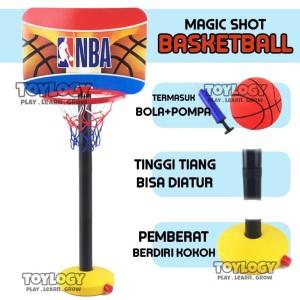 Harga mainan olahraga anak basketball tiang bola ring basket justice | HARGALOKA.COM