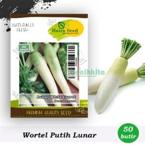 Harga benih bibit wortel putih lunar white haira seed | HARGALOKA.COM