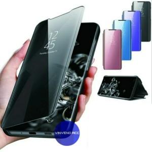 Harga flip case huawei honor 8x clear view mirror standing | HARGALOKA.COM