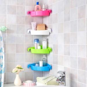 Harga rak sudut kamar mandi 4 colors bathroom corner storage rack   | HARGALOKA.COM