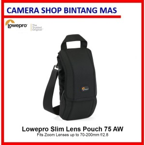 Harga lowepro slim lens pouch 75 aw fits zoom lenses up to 70 200mm f 2 8     HARGALOKA.COM