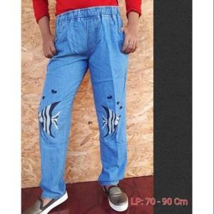 Harga celana boyfriend bordir ikan baggy bordir ikan celana | HARGALOKA.COM