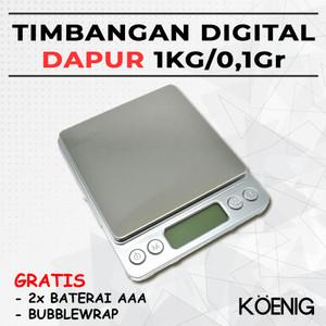 Harga timbangan digital dapur 1kg 0 1gr kopi bumbu bahan kue daging | HARGALOKA.COM