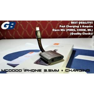 Harga mcdodo iphone 7 8 x lightning to 3 5mm adapter audio charging call   | HARGALOKA.COM
