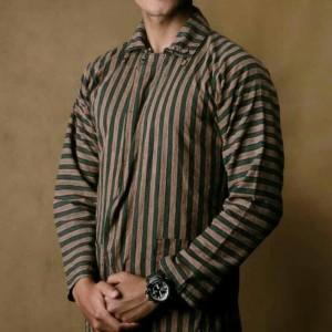 Harga baju surjan setelan dewasa jumbo lurik batik adat jawa   cokelat   | HARGALOKA.COM