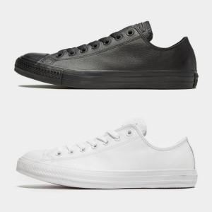 Harga grade original sepatu converse all star ox kulit leather hitam putih   putih | HARGALOKA.COM