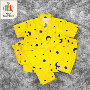 Harga piyama wanita dewasa baju tidur wanita pajamas 3 in 1 cp eropa   starmoon | HARGALOKA.COM