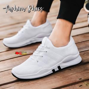 Harga sepatu pria sneakers import sporty dan kasual slip on 7789   putih   HARGALOKA.COM