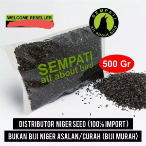 Harga niger seed 500 gr biji bijian pakan burung kenari finch lovebird | HARGALOKA.COM