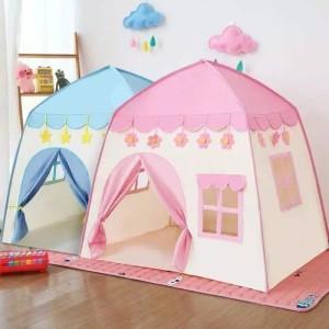 Harga tenda anak import model rumah an8112 tenda princess biru muda dan pink   merah | HARGALOKA.COM