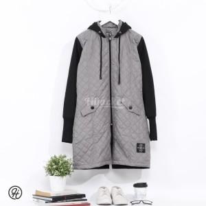 Harga jaket jacket panjang muslimah wanita cewek hijaber hijacket grc grey   | HARGALOKA.COM