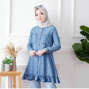 Harga anjani tunik wanita model terbaru baju muslim fashion wanita   snow   HARGALOKA.COM