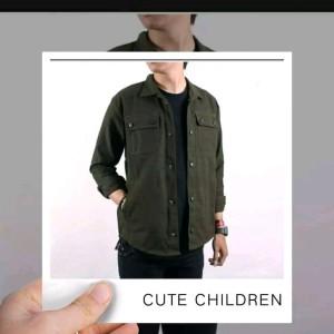 Harga kemeja semi parka jaket trucker pria wanita   hitam | HARGALOKA.COM