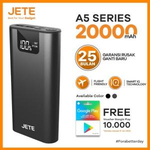 Harga powerbank jete sitiz 20000 mah fast charging garansi 25 bulan   | HARGALOKA.COM