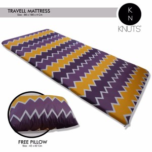 Harga knuts travel bed   kasur lipat katun motif tribal free | HARGALOKA.COM