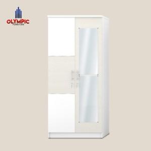Harga olympic lemari pakaian 2 pintu lemari baju 2 pintu hessian | HARGALOKA.COM