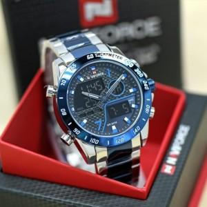 Harga jam tangan pria naviforce original 9171 rantai silver | HARGALOKA.COM