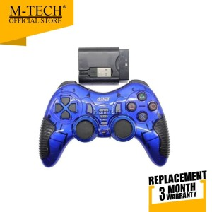 Harga m tech original gamepad joystick wireless 3 in 1 pc laptop ps2 ps3 | HARGALOKA.COM