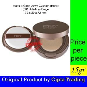 Harga base makeup   pixy   make it glow dewy cushion medium beige   HARGALOKA.COM
