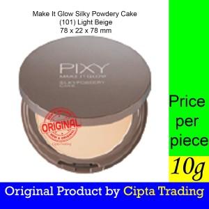 Harga base makeup   pixy   make it glow silky powdery cake 101 light   HARGALOKA.COM