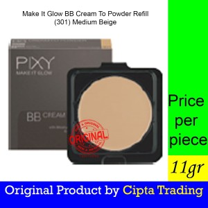 Harga base makeup   pixy   make it glow beauty bb cream to powder refill   HARGALOKA.COM