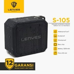 Harga lenyes s105 waterproof ipx7 outdoor wireless hifi speaker extrabass   | HARGALOKA.COM