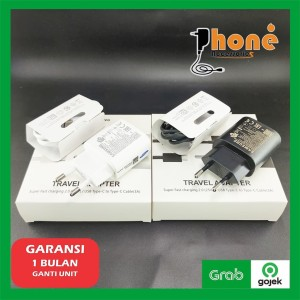 Harga charger samsung type c note 10 s10 a71 a60 a70s a80 25w fast | HARGALOKA.COM
