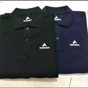 Harga polo shirt pria kaos baju keren eiget logo eiger outdoor | HARGALOKA.COM