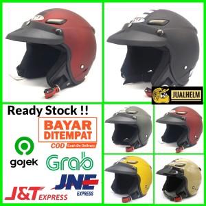 Harga helm jpn momo pet helm klasik helm vespa helm retro   HARGALOKA.COM
