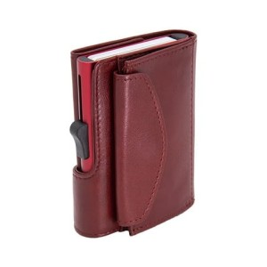 Harga c secure xl italian leather wallet with coin pouch rfid red | HARGALOKA.COM