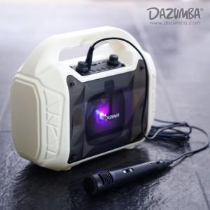Harga speaker aktif karaoke bluetooth n radio dazumba dw086 white dw 086   | HARGALOKA.COM
