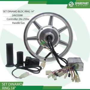 Harga paket set dinamo bldc ring14 sepeda listrik 24v250w motor | HARGALOKA.COM