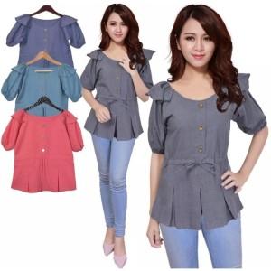 Harga baju blouse renda rumbai bahan supernova chika   | HARGALOKA.COM