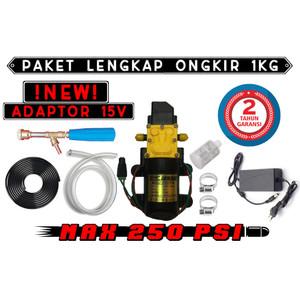Harga paket lengkap 1kg adaptor 15v pompa air rdc 250psi steam jet   HARGALOKA.COM