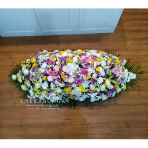 Harga bunga tutup peti coffin kubur mati duka cita condolences | HARGALOKA.COM