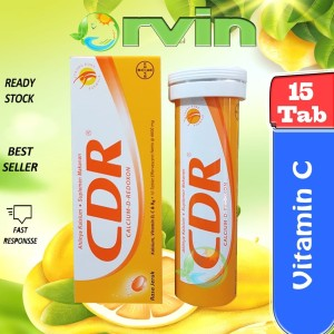 Harga cdr rasa jeruk 15 tablet effervescent suplemen | HARGALOKA.COM