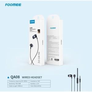 Harga headset foomee qa08 earphone wired hd stereo sound in ear super | HARGALOKA.COM