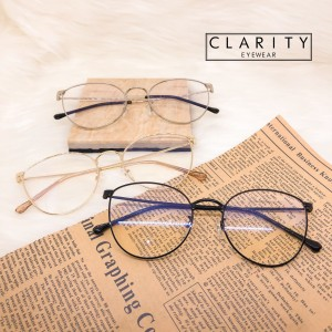 Harga frame kacamata wanita korea cat eye metal minus anti radiasi 6073   black normal | HARGALOKA.COM