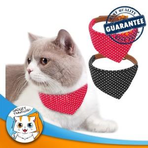 Harga polkadot triangle cat kalung lonceng kucing anjing hewan bib | HARGALOKA.COM