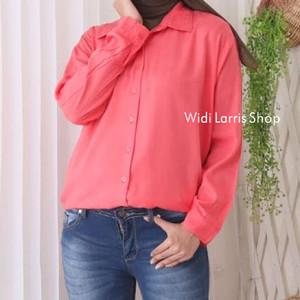 Harga baju blouse kemeja wanita rayon lembut baju atasan wanita 9 0155   salem | HARGALOKA.COM