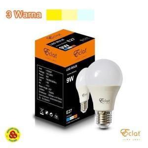 Harga eclat lampu led 9w 3 warna putih semu kuning led 9 w sceneswitch | HARGALOKA.COM